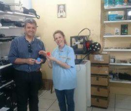 Entrega do prêmio ao nosso amigo Max – Peças impressas em 3D